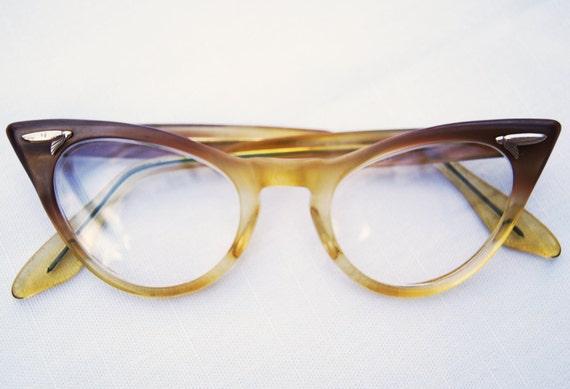 Vintage Ombre Cat Eye Glasses