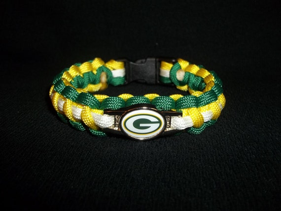 Green Bay Packers Paracord Bracelet by KGsParacordStore on ...