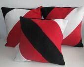 Fleece pillow cover, tricolor
