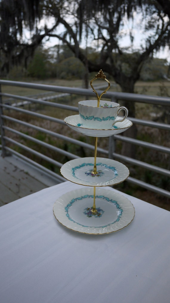 whimsical Tea Cup Stand for Serving or Decoration