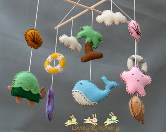 The sea baby mobile- Ahoy hanging mobile- Ocean mobile