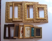 Lot of Eleven Wood Frames, Very Ornate Gold and 2 Brown Wood