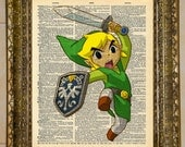 Legend of Zelda Link Dictionary Art