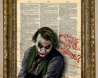 The Joker Heath Ledger Dictionary Art