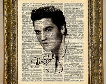 Vintage Elvis Dictionary Art