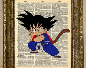 Kid Goku Dragon Ball Dictionary Art