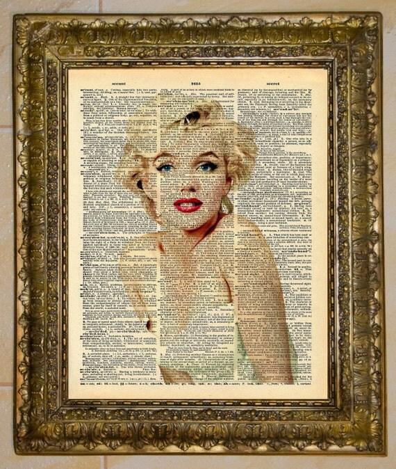 Marilyn Monroe Dictionary Art