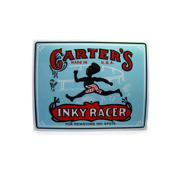 Vintage Carter's Inky Racer Black Americana Tin Sign