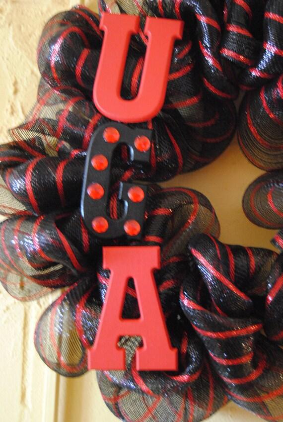 UGA Deco Mesh Collegiate Wreath