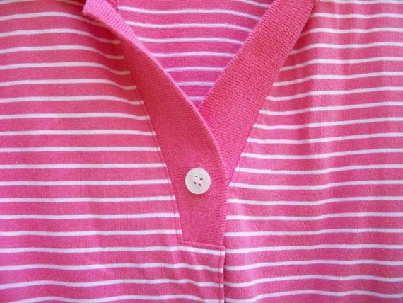 SALE - Vintage romper - pink and white stripes