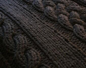 Throw Rug Knitting Patterns : Knit rug Etsy