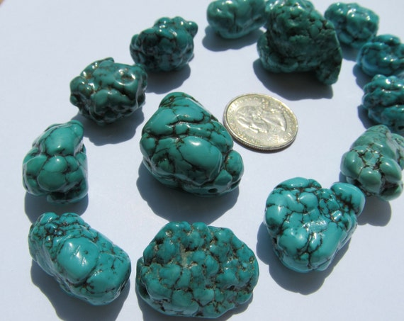 SALE Old Stock Natural Arizona Turquoise Nuggets Hand Selected 20 years ago Destash
