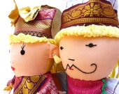 Puppet King and Queen Handmade Doll Children Baby Toddler Toy