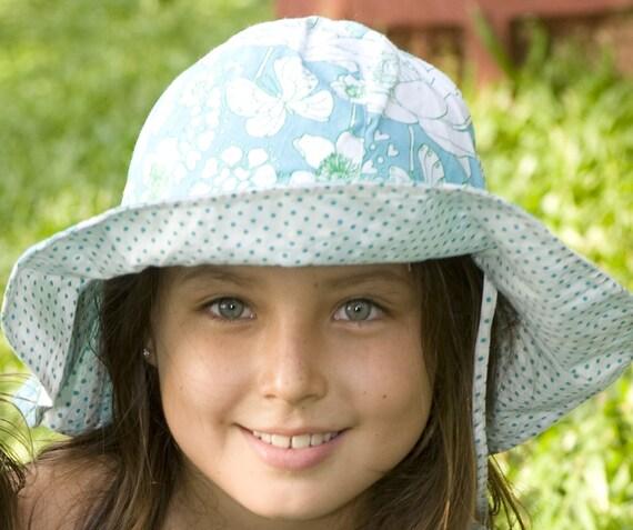 Teal Summer Hat, Children Hat