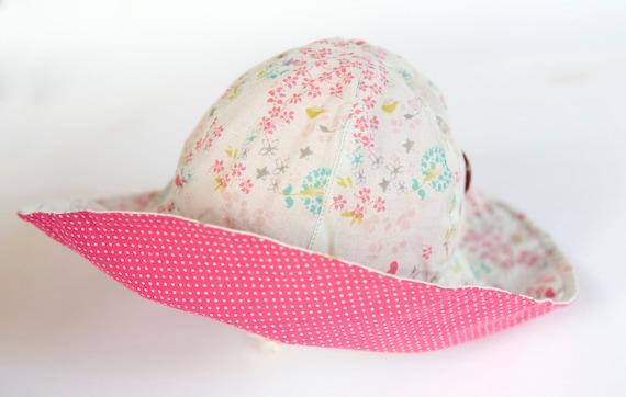 Reversable hat  for girl/toddler/baby