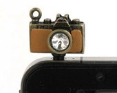 Camera Cell Phone Charm Plug -  Photographer's Smart Phone Dust Plug Headphone Plug Charm