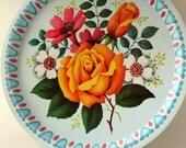 Vintage English Rose Tray