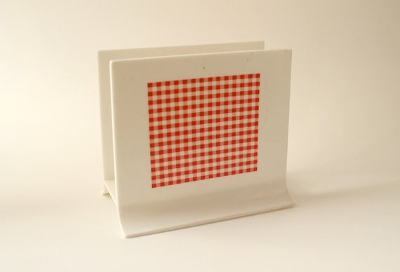 Red Gingham Napkin Holder