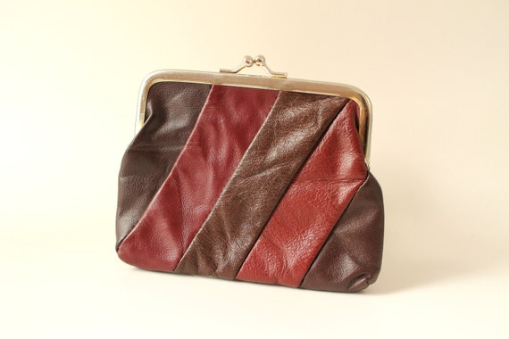Brown and Burgundy Coin Purse