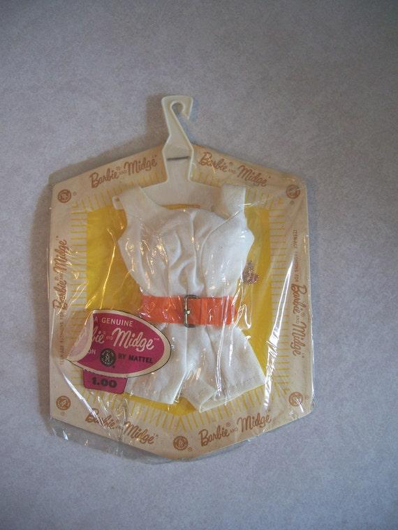 Vintage Barbie White Scoop Neck Playsuit - Never Opened