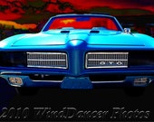 Muscle Car - Pontiac GTO - 8 x 12 Fine Art Photo - Man Cave Art - Classic Car Photo - Americana - Retro - Gifts for Guys - Gifts for Men
