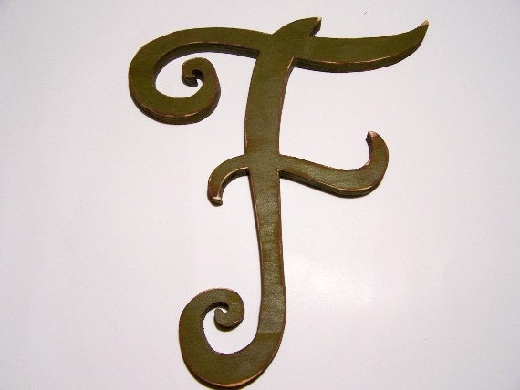 Large Wooden Letter F 13 Inches Tall Home Decor
