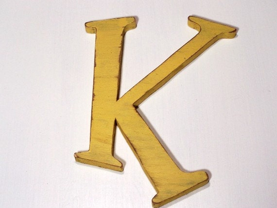 Items similar to large wood letter quotkquot alphabet letters for Large wooden letter k