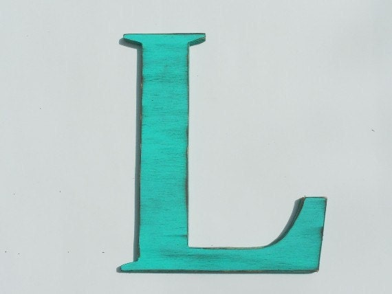 Letter L Wall Decor Custom Wooden Letter L Wall Hung 12 Inches Tall Shabby Review