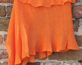 Linen Scarf Shawl Wrap Stole orange