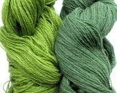 Wool Yarn Skeins - green salad 200 gr (7 oz ), approximately 383 yds