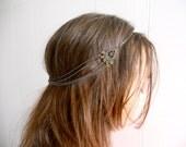 Elegant multi strand chain head band, hair piece, unique bridal accessory. Headlettes