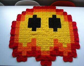 Super Mario Fireball 8-bit Crochet Blanket