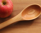 Handmade Wooden Tasting Stirring Serving Spoon of Larch Wood