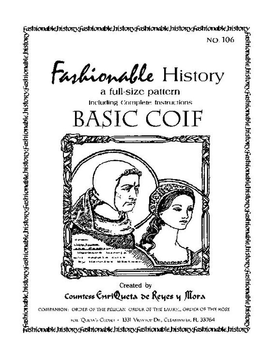 BASIC COIF Pattern by Queta's Closet No.106