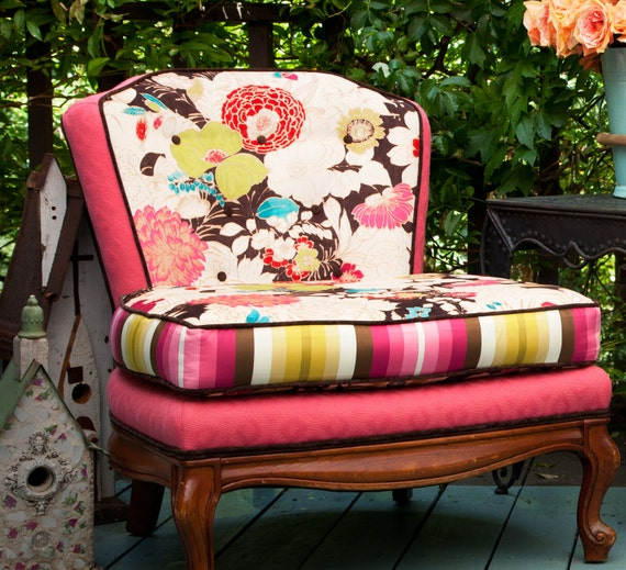 theSamantha Slipper Chair - Redressed with floral attitude