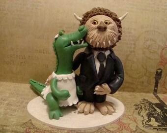 Customized Animal Wedding Cace Topper