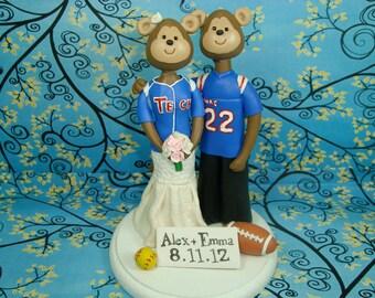Customized Monkey Wedding Cake Topper