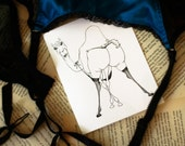 Dita Von Teats A2 illustrated greeting card print
