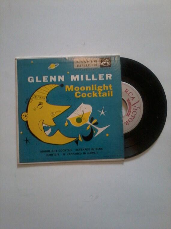 Vintage Glen Miller moonlight cocktail vinyl EP record 45rpm 50s