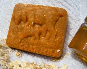 Honey Oatmeal Milk Soap, Organic Raw Honey Goat Milk &Oatmeal Soap, All Natural Soap