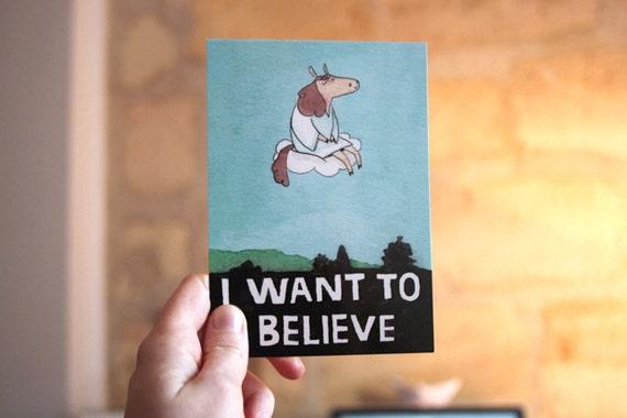 """I WANT TO BELIEVE -  Postcard from the comic  """"Shä & Salomé : jours de pluie"""""""
