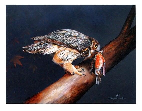 Great Horned Owl/ Title: Natural Order