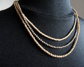 Pretty Three Strand Seed Bead Necklace