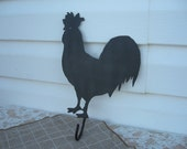 Rooster towel hook -black metal