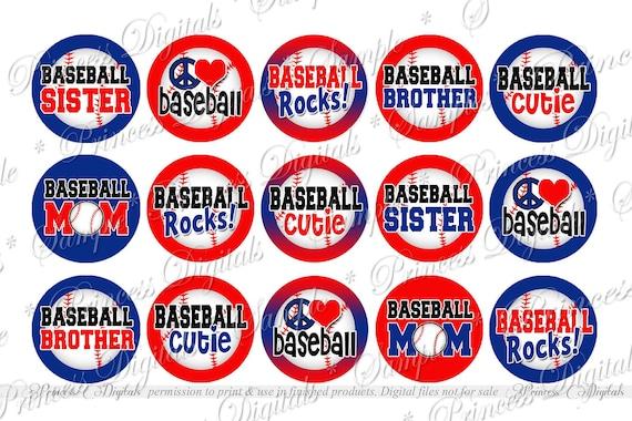 Baseball rocks baseball brother digital bottle cap images