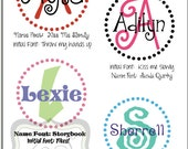 "Personalized Name and Initial Vinyl Decal 18""w x 18""h- for walls, tile, doors, windows, mirrors, crafts, and more ZS001"