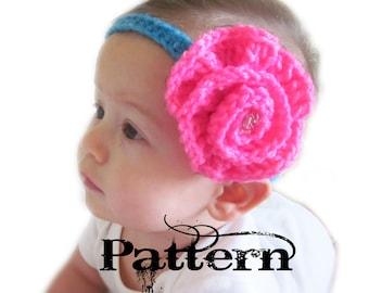Crochet Baby Headband Pattern - Big Flower