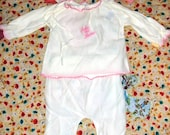 SALE Vintage Baby Girl's Going Home Outfit