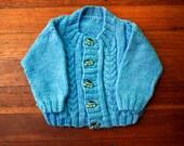 Sailor Boy Knitted Jacket: 3-6 mths