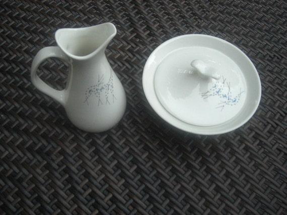 Iroquois Impromptu  Vision Vintage Atomic Creamer and Sugar Set Ben Seibel Design